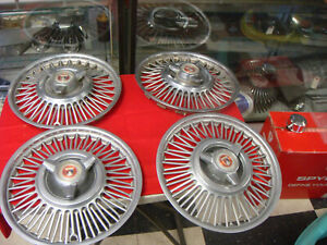 1963 1966 Ford Mustang Wire Wheel Spinner Hub Caps Set Of 4 13 Inch Galaxie