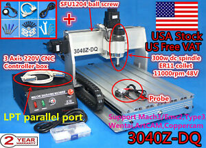 usa 3axis 3040z dq 300w Cnc Router Kit Engraver Engraving Mill Drilling Machine