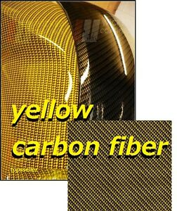 Yellow Carbon Fiber Hydrographics Film Water Transfer Printing 100x1000 Cm Us