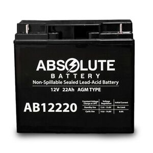 New Ab12220 12v 22ah Sla Battery For Boosterpac Es5000 Battery Booster