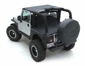 Smittybilt Standard Top Denim Black Fits 1987 1991 Jeep Wrangler 90815