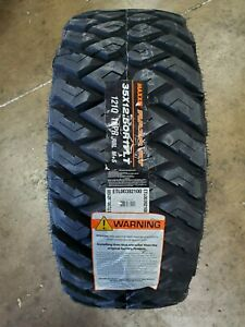 35x12 50r17lt Maxxis Razr M T 121q 10ply Load E Set Of 4