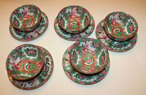 10 Pieces Of Vintage Chinese Vintage Rice Soup Bowls And Plates