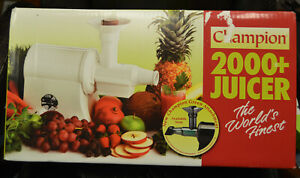 Champion 2000 Commercial Juicer Juice Extractor Machine White