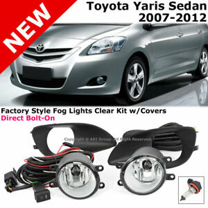 For Toyota Yaris Sedan 07 12 Fog Light Lamp W Cover Switch Driect Replacement