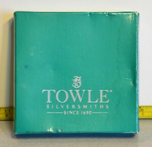 Towle Sterling Silver Compact Hand Held Mirror Box