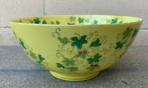 Estate Collection Chinese Antique Vintage Yellow Porcelain Bowls
