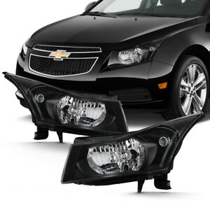 2011 2015 Chevrolet Cruze Ls Lt Ltz Eco Turbo Black Front Headlights Left Right