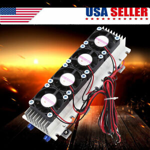 4 chip Semiconductor Thermoelectric Cooler Peltier Refrigeration Cooling Device