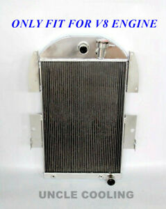 3 Rows Aluminum Radiator Fit 1934 1936 Chevy Pickup Truck Cc3436ch 3 4l V8