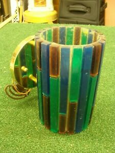 Vintage Moe Lighting Mid Century 1960 S Wall Sconce Blue Green Purple