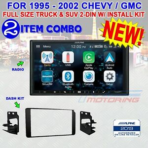 1995 2002 Gm Full Size Truck Suv Double Din Car Stereo Bezel Alpine Ilx w650