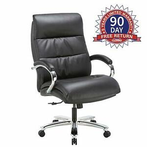 Ergonomic Big Tall High Capacity Executive Office Chair Bonded Leather 400lbs