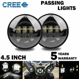 2pcs 4 5 Inch Led Passing Lights 4 1 2 Driving Fog Lights Auxiliary Spot Lights