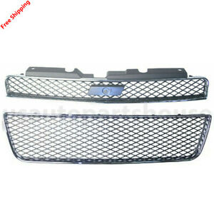 New For Chevrolet Impala Ss 2006 2010 Front Grille Fits Gm1200551 Gm1036107
