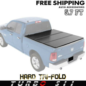 2019 For Dodge Ram 1500 5 7 ft Bed Without Rambox G2 Hard Tri fold Tonneau Cover