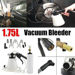 Car Brake Bleeder Bleeding Fluid Change Kit Air Pneumatic Garage Vacuum Tool Kit