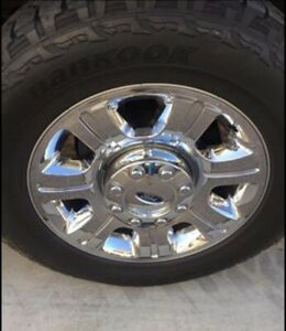 20 Wheels And Tires 8 Lug 8 On 170 No Scratches 31 000 Miles On The Tires