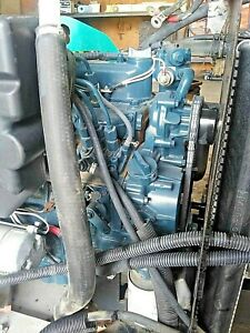 Kubota D1105 Diesel Engine 25 Hp Liquid Cooled Includes A Radiator Low Hours