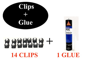 Glue 1 Clips 14 For 2011 2019 Ford Explorer Windshield Outer Trim Pillar