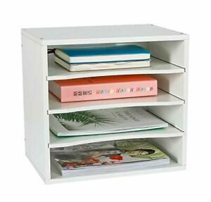 Office Supplies Desk Organizer Wood File Mail Sorter With 3 Adjustable Drawer
