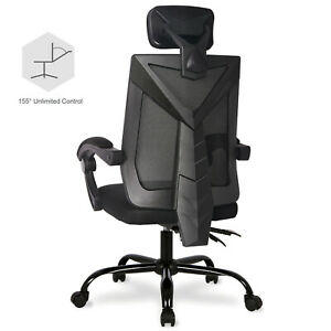 Ergonomic Office Desk Chair High back Adjustable Seat Headrest Reclining Chair