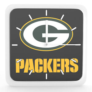 Nfl Green Bay Packers Home Office Room Decor Wall Desk Clock Magnet 6 x6