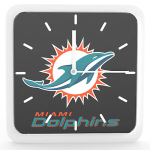 Nfl Miami Dolphins Home Office Room Decor Wall Desk Clock Magnet 6 x6