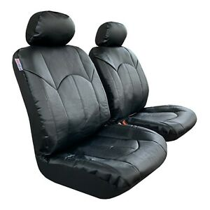 Front Seat Covers Leatherette Black For Toyota Tacoma 1999 2019