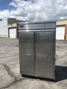 Continental 2 Door Glass Dl2r Refrigerator Cooler Commercial Stainless Steel