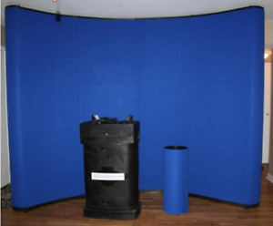 Trade Show Curved Portable Trade Show Background Pop Up Display Booth 10x10