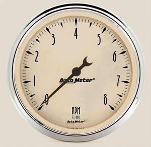 Autometer Antique Beige Tachometer 0 8 000 5 Dia In Dash Beige Face 1899