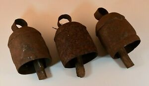 3 Rare Early 1900 S Primitive Metal Wood Farm Cow Livestock Pennsylvania