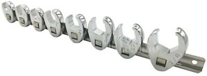 8pc 3 8 Drive Sae Flare Nut Crowfoot Wrench Set W Snap On Snap Off
