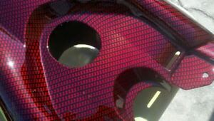 19x393 Water Transfer Printing Film Hydrographic Us Red Carbon Fiber Hydro Fast