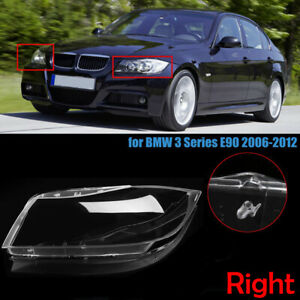 Right Front Clear Hid Headlight Headlamp Lens Cover For Bmw 3 Series E90 2005 12