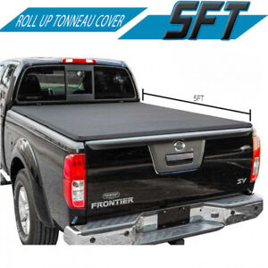 Fit 2015 2019 Nissan Frontier King Cab Roll Up Tonneau Cover 5ft Short Bed