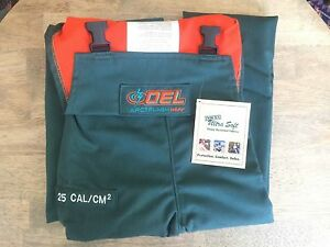 New Oel Arc Welding Flash Protective Bib Overall 25 Cal cm2 Men s Large Afw085