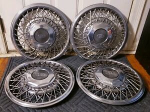 Set Of 4 Oem 1989 93 Buick Riviera 15 Wire Spoke Hubcap Wheel Covers