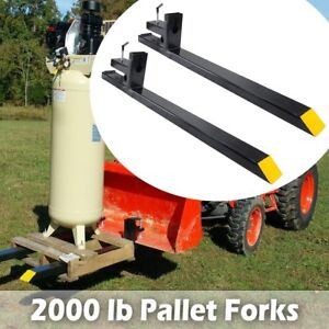 Clamp On Tractor 60 1500lb Pallet Forks Loader Bucket Skid Steer Quick Attach