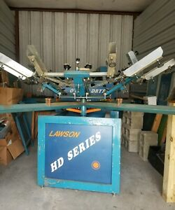 Lawson 6 Color Manual Silkscreen Press Dryers And Equipment