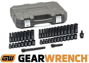 Gearwrench 84916n 44 Piece Sae metric 3 8 Drive Impact Socket Set New Free Ship
