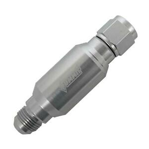 Fuel Filter Inline Mount Alum Clear 8 An Female Inlet 8 An Male Outlet Each