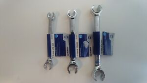 Kobalt Flare Nut 3 Piece Set 6 Point Metric Flare Open End Wrench Set 9mm 14mm