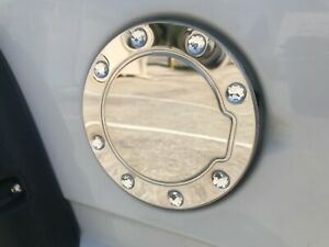 For 88 98 Chevy Ck Pickup Gmc Pickup Chrome Fuel Gas Cap Door Cover W Diamonds