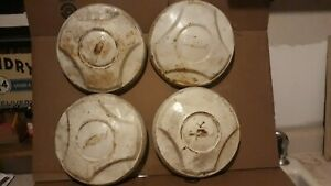 64 65 66 Chevy Dog Dish Hubcaps 10 1 2 Inches Set Of 4 C10 Truck 1 2 Ton