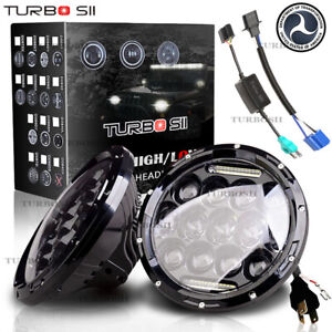 Pair 7 Inch 75w Led Headlight Hi lo Beam Drl For 1968 1979 Toyota Corolla
