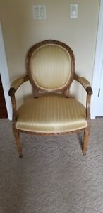 French Louis Xvi Style Round Back Chair