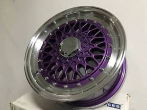 15 Purple W Silver Rs Style Rims Wheels Fits 92 2000 Civic Sentra 4x114 4x100