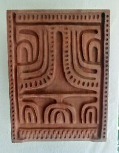 Vintage Evelyn Ackerman Panel Carve Wall Plaque